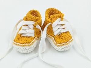 ♥ Babystrickschuhe ♥ Taufgeschenk, Geburtsgeschenk, Babygeschenk, Strickschühchen (Kopie id: 100276413) - Handarbeit kaufen