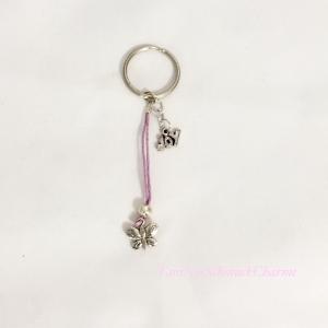 ☆ Schlüsselanhänger Lila Schmetterling Mädchen ☆