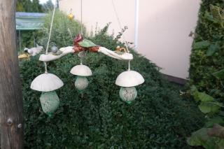 Meisenknödel 3er mit Vogel, Wurm und Igel