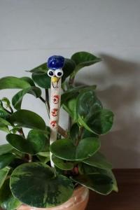 Blumenstecker Blau für den Blumentopf oder Strauß