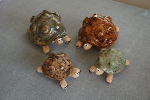 Schildkröte Spardose handgemacht, getöpfert, ton, grün