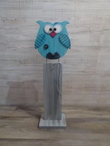 Dekoeule Eule Steffi Holz Dekoration 65cm  - Handarbeit kaufen