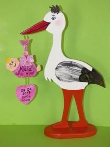 Klapperstorch Storch Geburt 46cm individuell Cassy - Handarbeit kaufen