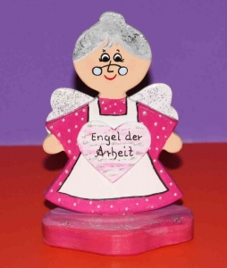 Schutzengel Engel Holz 15 cm Engel der Arbeit