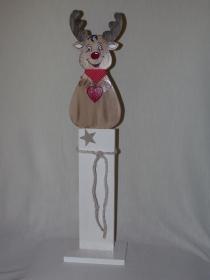Winterelch Peppone handgemacht aus Holz Höhe 80cm