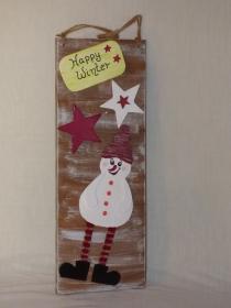 Weihnachtliche Hängedeko für Tür, Wand, Fenster - Handarbeit kaufen