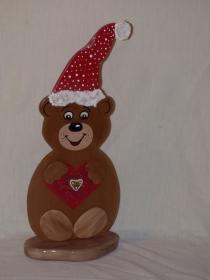 Winterbär Hope mit Herz und Mütze - Handarbeit kaufen