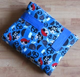 Wickel-mobil-Piraten/blau-mit Frottee-Liegefläche - Handarbeit kaufen