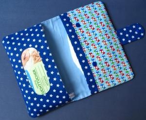 Windeltasche - Wickeltasche - Füchse - Sterne royalblau - Handarbeit kaufen