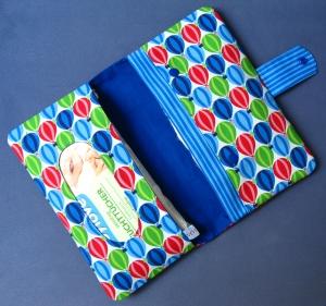 Windeltasche - Wickeltasche - Fesseballon, Heißluftballon - blau / blau - Handarbeit kaufen