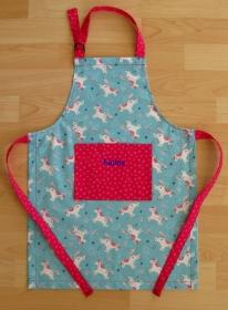 Kinderschürze / Küchenhelferset - Einhörner - auf Wunsch personalisiert  - Handarbeit kaufen
