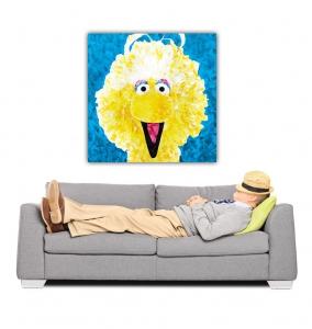 Sale 25%: Gelber Vogel - Leinwand / Pop Art / 40 x 40 cm (verschiedene Größen verfügbar)