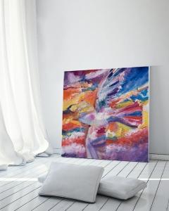 Sale 25%: Möwe - Kunstdruck 40 x 40 cm / Art Print / Expressionistisch