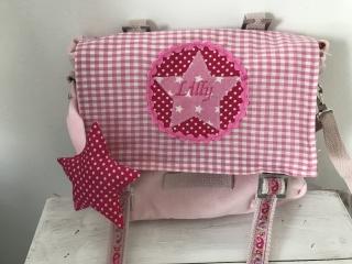 Handgefertigte Kindergartentasche mit Stern und Namen  (Kopie id: 100074865)