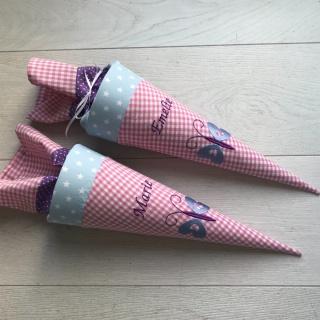 Handgefertigte Geschwistertüte mit Schmetterling - Handarbeit kaufen