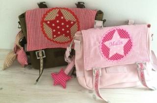 Handgefertigte Kindergartentasche mit Stern und Namen