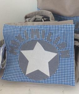 Handgefertigte Kindergartenrucksack mit Stern und Namen    - Handarbeit kaufen