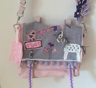 Handgefertigter Kindergartenrucksack mit Häkelpferd, Wimpelkette und Namen (Kopie id: 100076610) - Handarbeit kaufen