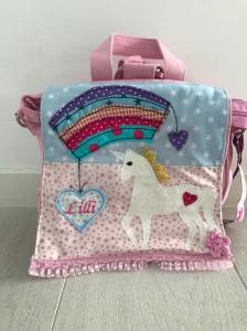 Handgefertigter Kindergartenrucksack mit Einhorn - Handarbeit kaufen