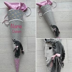 handgefertigte Schultüte mit Pferd und Namen: Einzelstück! ♥ - Handarbeit kaufen