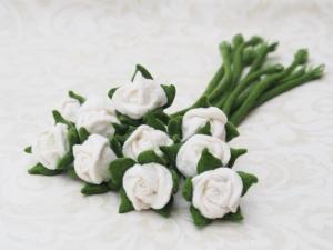 Reserviert für (Reserviert für I.019) Wunschanfertigung Lesezeichen Rose weiß