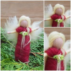 Engelchen*Handgearbeitet*Feinste Wolle*Rot, Vanille*Stehend (Kopie id: 100209888)