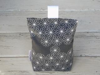 Türstopper grau mit Blumen-Muster