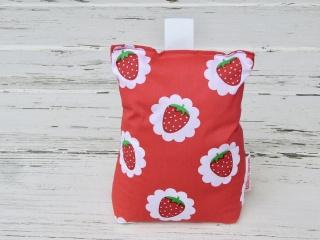 Türstopper rot mit Erdbeer-Motiv