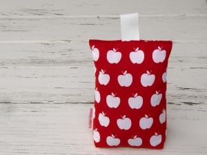 Türstopper rot mit weißen Äpfelchen