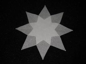 gehäkelter Stern, gehäkelte Decke, Häkeldecke, Stern,Weihnachten, häkeln, NEU,