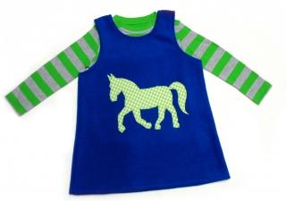 Gr: 104 / 110 Tunika ~ Kleid ~ Hängerchen ~ Pferd - Handarbeit kaufen