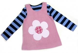 Gr: 92 / 98 Tunika ~ Kleid ~ Hängerchen ~ Blume - Handarbeit kaufen