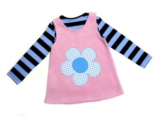 Gr: 92 / 98  Tunika ~ Kleid ~ Hängerchen ~ Blume ~ Selbstgenähte Kinderkleidung
