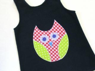 Gr:  92 / 98 Tunika ~ Kleid ~ Hängerchen ~ Eule - Handarbeit kaufen