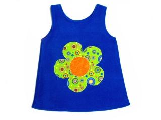 Gr:  92, 98    Tunika ~ Kleid ~ Hängerchen ~ Blume ~ Unikat - Handarbeit kaufen