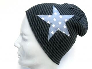 Selbstgenähte Mütze für Kinder und Erwachsene mit Stern - Handarbeit kaufen