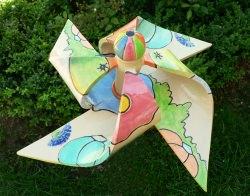 handgetöpfertes Windspiel Windrad XL