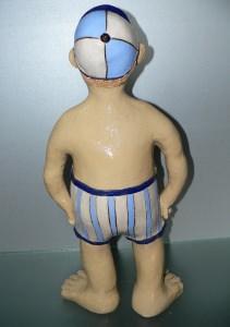 Keramik Figur handgetöpfert Unikat Alois 51cm entdecken
