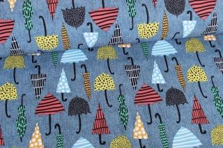 Softshell ♥ Regenschirme ♥ Jeansblau