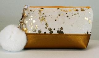 Kosmetiktasche ♥ Goldflocke Nr. 1 ♥ Schminktasche Täschchen