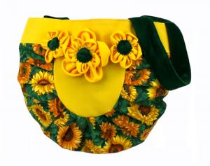 Handtasche ♥ Sunflower Yellow ♥ Schultertasche Shoppingtasche Bag Shopper - Handarbeit kaufen