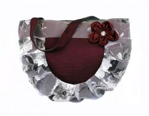 Handtasche  ♥ 3D Silver Red ♥ Schultertasche Stofftasche Shoppingtasche Bag Shopper - Handarbeit kaufen