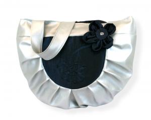 Handtasche ♥ 3D Silver Blue ♥Shoppingtasche Kunstleder Schultertasche Shopper Bag - Handarbeit kaufen