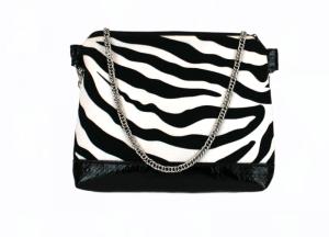 Handtasche ♥ Zebra Black ♥  Schultertasche Bag Clubtasche Mottotasche - Handarbeit kaufen