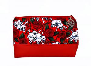 Kosmetiktasche ♥ Skullrose ♥ Schminktäschchen Bag Minibag - Handarbeit kaufen