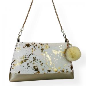Handtasche  ♥ Goldflocke Ivory ♥  Designertasche Bag Abendtasche - Handarbeit kaufen