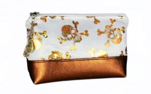 Kosmetiktasche ♥ Golden Joke ♥ Schminktäschchen Bag Minibag - Handarbeit kaufen