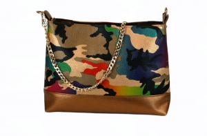 Handtasche  ♥ Camouflage Couleur ♥  Designertasche Clubtasche Bag - Handarbeit kaufen