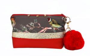 Kosmetiktasche ♥ Birds ♥  Schminktäschchen Bag Minibag - Handarbeit kaufen