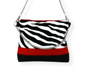Handtasche ♥ Zebra Red ♥ Designertasche Clubtasche Citybag Umhängetasche - Handarbeit kaufen